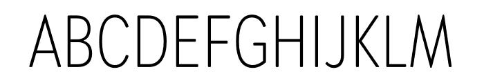 Brandon Grotesque Condensed Light Font UPPERCASE