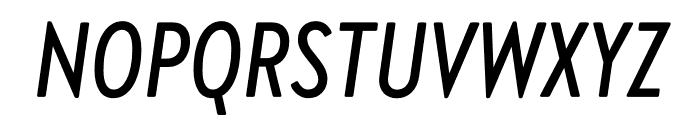 Brandon Grotesque Condensed Medium Italic Font UPPERCASE