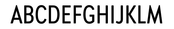 Brandon Grotesque Condensed Medium Font UPPERCASE