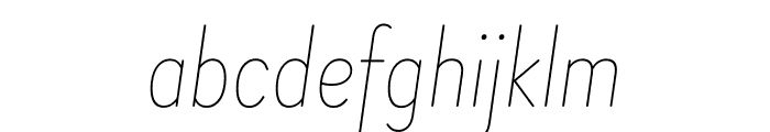 Brandon Grotesque Condensed Thin Italic Font LOWERCASE
