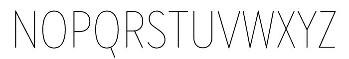 Brandon Grotesque Condensed Thin Font UPPERCASE