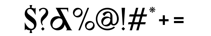 Canopee Regular Font OTHER CHARS
