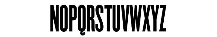 Champion Gothic Bantamweight Font UPPERCASE