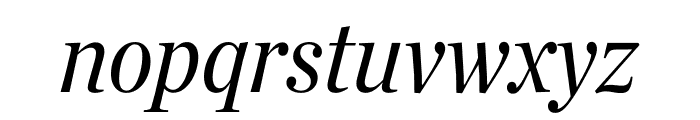 Chronicle Deck Condensed Italic Font LOWERCASE