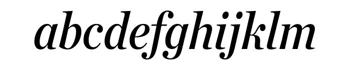 Chronicle Deck Condensed Semibold Italic Font LOWERCASE