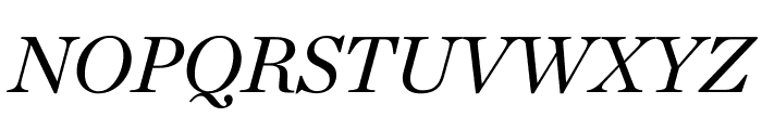 Chronicle Deck Italic Font UPPERCASE