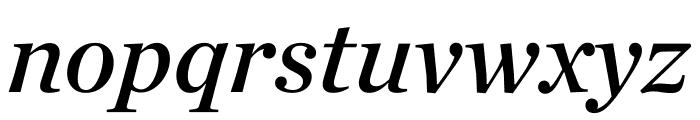 Chronicle Deck Semibold Italic Font LOWERCASE