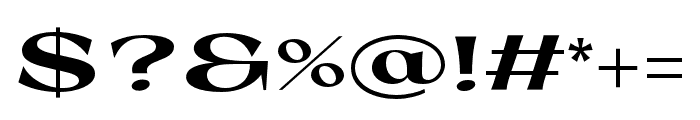 Coconat Bold Extended Font OTHER CHARS