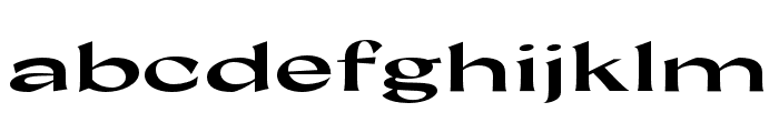 Coconat Bold Extended Font LOWERCASE