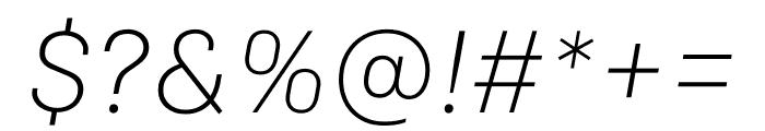 Colfax Light Italic Font OTHER CHARS