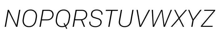 Colfax Light Italic Font UPPERCASE