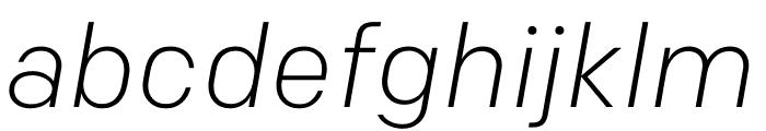 Colfax Light Italic Font LOWERCASE