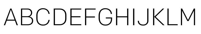 Colfax Light Font UPPERCASE
