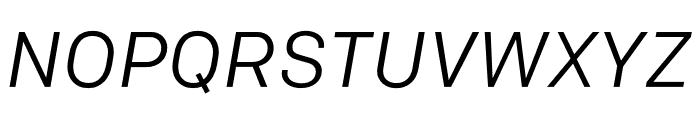 Colfax Regular Italic Font UPPERCASE