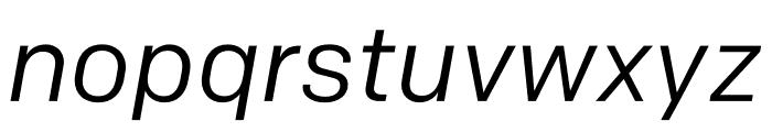 Colfax Regular Italic Font LOWERCASE