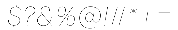 Colfax Thin Italic Font OTHER CHARS