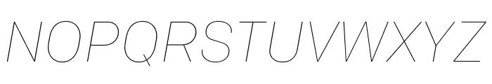 Colfax Thin Italic Font UPPERCASE