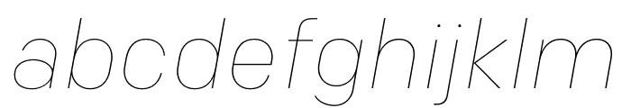 Colfax Thin Italic Font LOWERCASE
