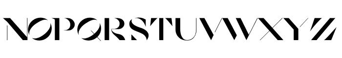 Cosi Azure Black Stencil Font UPPERCASE