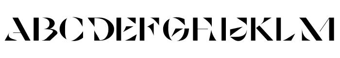 Cosi Azure Black Stencil Font LOWERCASE