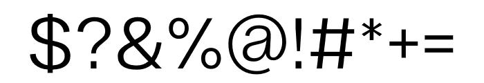 Ekstra Light Font OTHER CHARS