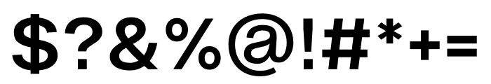 Ekstra Semi Bold Font OTHER CHARS