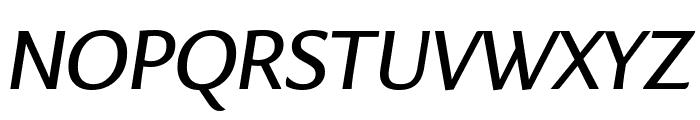 Eva NormalItalic Font UPPERCASE