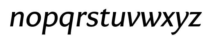 Eva NormalItalic Font LOWERCASE