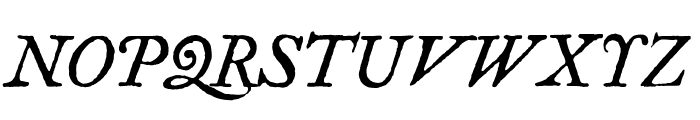 Fell Type Italic Font UPPERCASE