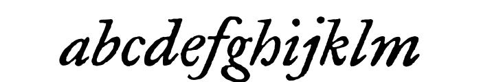 Fell Type Italic Font LOWERCASE