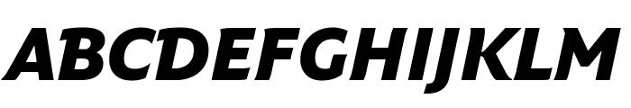 Fresco Informal Black Italic Font UPPERCASE