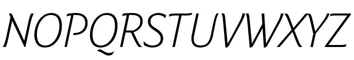 Fresco Informal Light Italic Font UPPERCASE