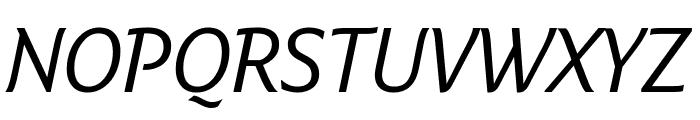 Fresco Informal Normal Italic Font UPPERCASE