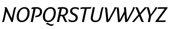 Fresco Informal SemiBold Italic Font UPPERCASE