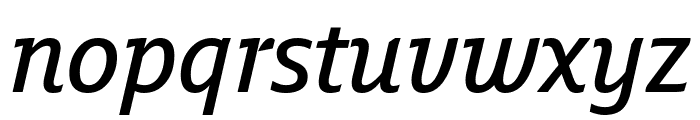 Fresco Informal SemiBold Italic Font LOWERCASE