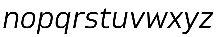 Gilam Book Italic Font LOWERCASE