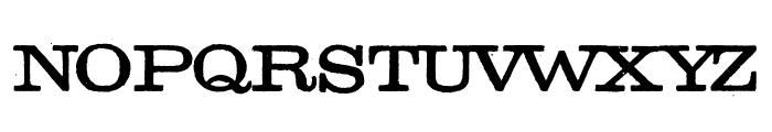 Golden Age Regular Font UPPERCASE