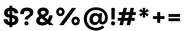 Good Sans Bold Font OTHER CHARS