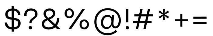 Good Sans Light Font OTHER CHARS