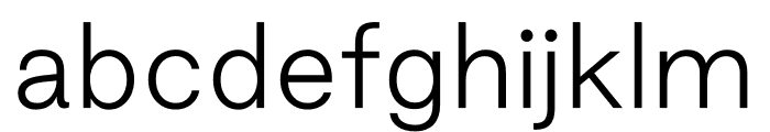 Good Sans Thin Font LOWERCASE