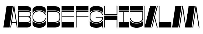 Gustella Inline Bold Font UPPERCASE