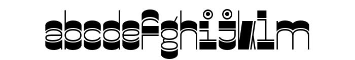 Gustella Inline Bold Font LOWERCASE