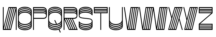Gustella Stripes Bold Font UPPERCASE