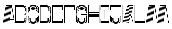 Gustella Stripes Light Font UPPERCASE