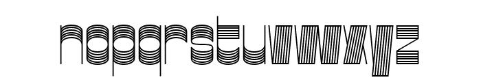 Gustella Stripes Light Font LOWERCASE