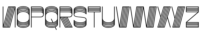 Gustella Stripes Normal Font UPPERCASE