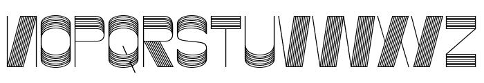Gustella Stripes Thin Font UPPERCASE