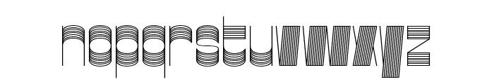 Gustella Stripes Thin Font LOWERCASE