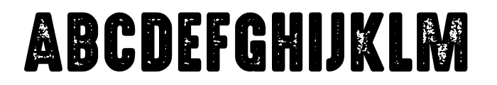 Highvoltage Heavy Rough Font UPPERCASE
