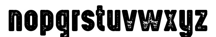 Highvoltage Heavy Rough Font LOWERCASE